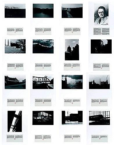 Alain BUBLEX (Né en 1961) JOHN VANDERPANT: 15 vues de Glooscap présentées et commentées par les archives municipales,1998 15 photogr...