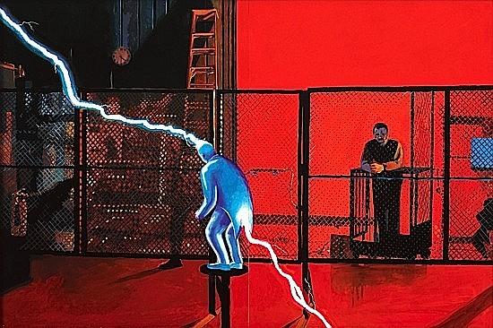 Gilles BARBIER (né en 1965) ORGUE A PET, 1996 Gouache et crayon sur papier fort
