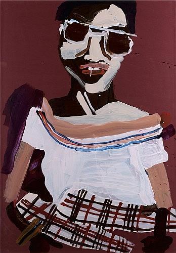 Katherine BERNHARDT (née en 1975) SANS TITRE, 2006 Acrylique sur papier