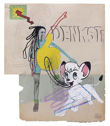Kati HECK () DENKSTE, 2005 Technique mixte sur carton