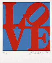 Robert INDIANA (Né en 1928) BOOK OF LOVE (Bleu et rouge) - 1996