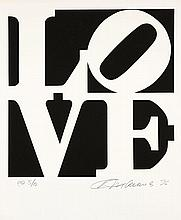 Robert INDIANA (Né en 1928) BOOK OF LOVE (Noir et blanc) - 1996