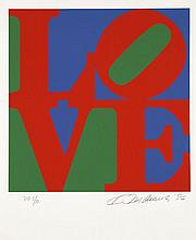 Robert INDIANA (Né en 1928) BOOK OF LOVE (Rouge, bleu et vert) - 1996