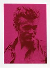 Russell YOUNG (Né en 1960) JAMES DEAN RED - 2005 Sérigraphie en couleurs sur toile, montée sur châssis