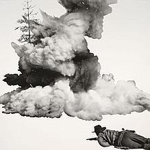 John BALDESSARI (Né en 1931) SMOKE, TREE, SHADOW AND PERSON - 2011