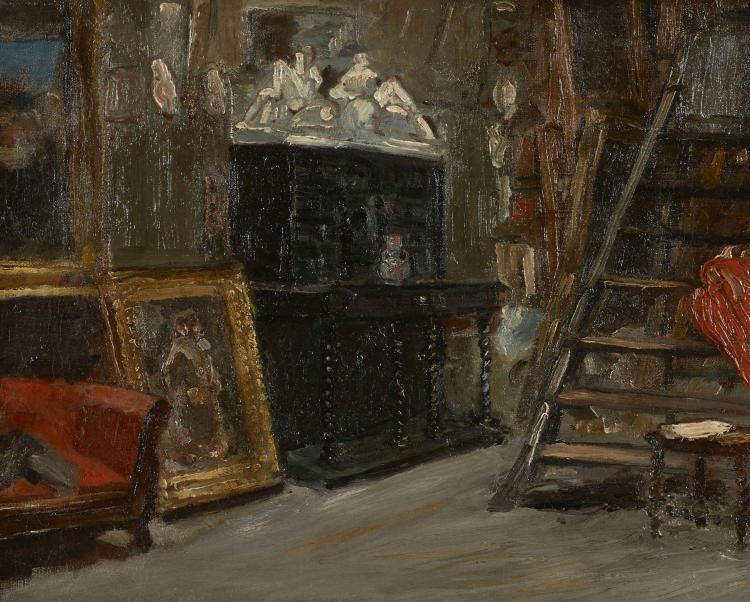 alfred dehodencq paris 1822 1882 vue de l 39 atelier de l 39 ar. Black Bedroom Furniture Sets. Home Design Ideas