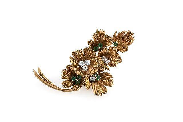 BOUCHERON  Clip bouquet de fleurs