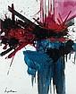 Georges MATHIEU (né en 1921) L'ETERNITE INCOMPRISE, Août 1990 Alkyde sur toile