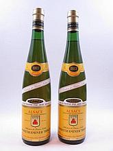 2 bouteilles ALSACE GEWURZTRAMINER 1983 Vendanges tardives