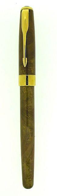 PARKER Stylo plume Sonnet en laque de chine marron clair marbré