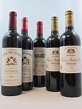 11 bouteilles  1 bt : CHÂTEAU GRAND PUY LACOSTE 2002 5è GC Pauillac 2 bts : CHÂTEAU GRAND PUY DUCASSE 2001 5è GC Pauillac 2 bts...