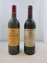 2 bouteilles 1 bt : CHÂTEAU LEOVILLE POYFERRE 1996 2è GC Saint Julien (étiquette sale et tachée)