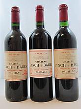 7 bouteilles 1 bt : CHÂTEAU LYNCH BAGES 1992 5è GC Pauillac (étiquette fanée)