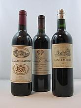 9 bouteilles 3 bts : CHÂTEAU SOCIANDO MALLET 2002 CB Moulis