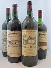 4 magnums 1 mag : CHÂTEAU OLIVIER 1993 CC Pessac Léognan (étiquette sale)