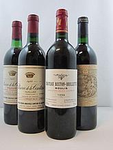 11 bouteilles 2 bts : RESERVE DE LA COMTESSE 1983 Pauillac (base goulot, étiquettes sales)