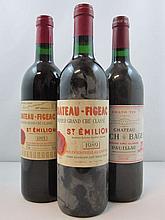 4 bouteilles  2 bts : CHÂTEAU LYNCH BAGES 1994 5è GC Pauillac (étiquettes fanées) 1 bt : CHÂTEAU FIGEAC 1995 1er GCC (B) Saint Emi...