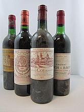 11 bouteilles 3 bts : CHÂTEAU DUCRU BEAUCAILLOU 1975 2è GC Saint Julien (1 goulot,étiquettes très abimées)