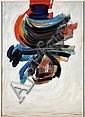 James PICHETTE (1920-1996) HURONIE I, 1965 Acrylique sur toile et cadre peint par l'artiste, James Pichette, Click for value