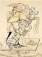 Jorge CAMACHO (né en 1934) SANS TITRE, 1970 Dessin au fusain et pastels gras de couleurs sur papier, Jorge Camacho, Click for value