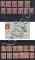 France - Napoléon nd - N° 16, 40. Orange, 10 ex. et une paire oblitérés. N° 17, 80 c. rose et carmin, 11 ex. dont un ex. sur lettre....