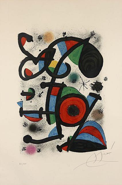 Joan MIRO 1893 - 1983 QUERELLE D'AMOUREUX I - 1987