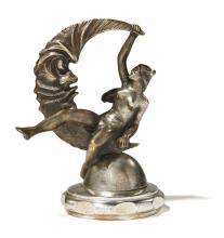 LUNE QUI PLEURE, MERCURE Par Antoine Elie Ottavy (1887-1951)