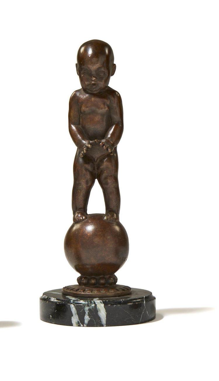 BAIGNEUR Par Max Blondat (1872-1925)