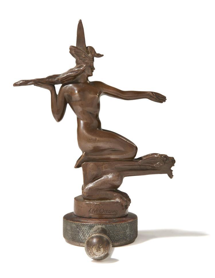 DÉESSE AU DRAGON  Par Antoine Elie Ottavy (1887-1951)