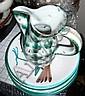 Robert Picault (1919-2000) Vase en céramique émaillée polychrome à décor de feuilles vertes sur fond blanc, Robert Picault, Click for value