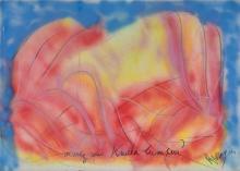 Jean MESSAGIER (1920 - 1999) AIMEZ-VOUS KUALA LUMPUR ? Pastel et bombe aérosol sur papier