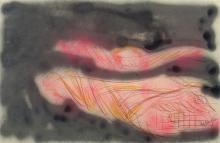 Jean MESSAGIER (1920 - 1999) SANS TITRE Pastel sur papier