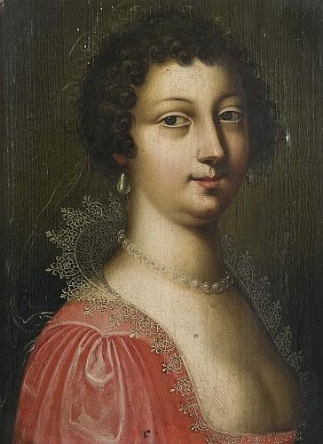 Jean Ducayer Actif en France au XVIIe siècle Portrait de jeune femme Panneau de chêne, une planche, non parquetée