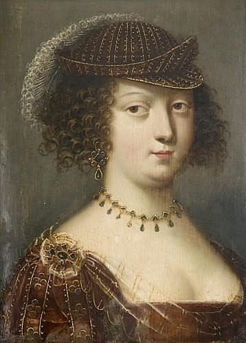 Jean Ducayer Actif en France au XVIIe siècle Portrait de jeune femme Panneau de chêne