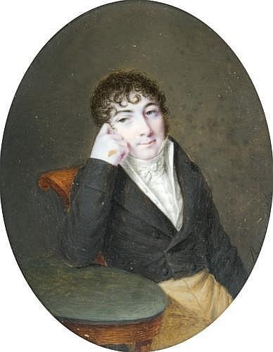 Charles Berny d'Ouville Clermont-Ferrand, 1771 - Paris, 1856 Portrait présumé du baron de Glandevès, pair de France et gouverneur de..
