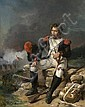 Horace Vernet Paris, 1789 - 1863 Le grenadier blessé Huile sur toile