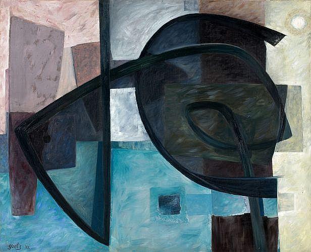 Henri GOETZ (1909-1989) COMPOSITION, 1952 Huile sur toile