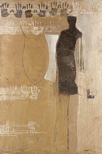 Guy FERRER (né en 1955) ALGERIE, 1996 Huile, acrylique et pigments sur toile