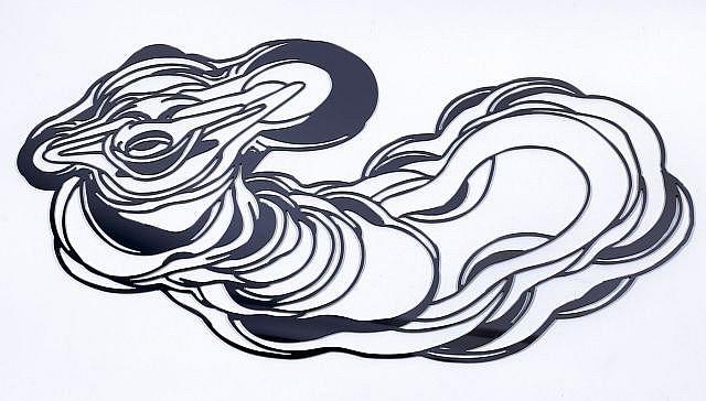 Jean-Luc MOERMAN (né en 1967) SANS TITRE, juin 2005 Miroir en plexiglas découpé