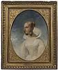 Attribué à Ary Scheffer Dordrecht, 1795 - Argenteuil,1858 Jeune femme à la robe blanche Huile sur toile (Toile d'origine), de forme...