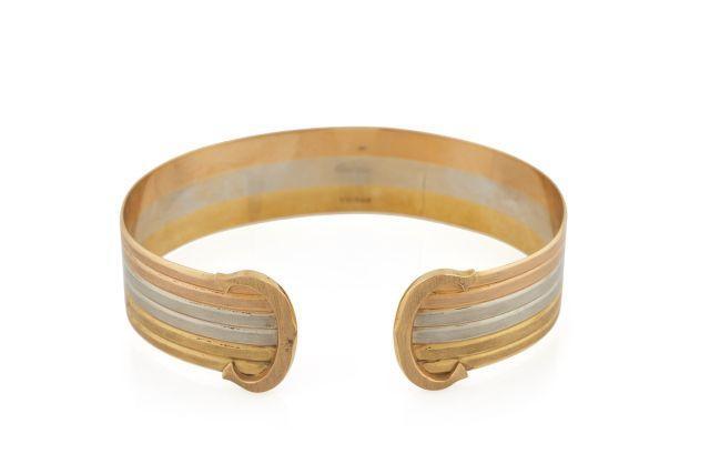 CARTIER  Bracelet ruban rigide ouvert