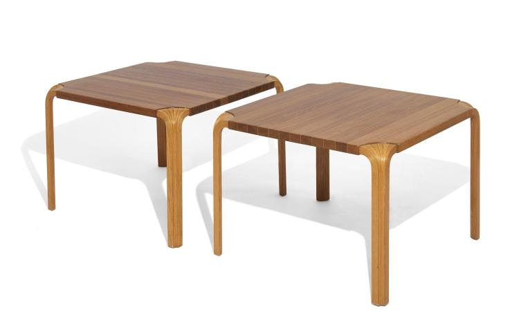 Alvar aalto 1898 1976 paire de tables basses mod x800 for Pietement de table