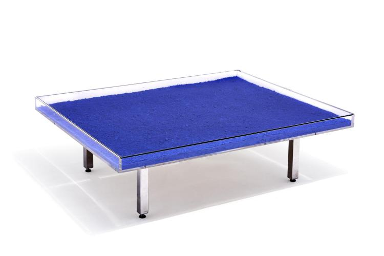 Yves Klein 1928 1962 Table Basse Monochrome Circa 1970 P