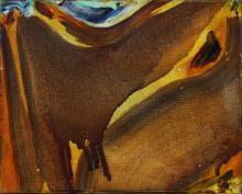 Olivier DEBRÉ (1920 - 1999) SIGNE PAYSAGE (PETIT BRUN COULE) - 1967 Huile sur toile