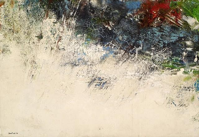 Don FINK (né en 1923) SANS TITRE, 1961 Huile sur toile