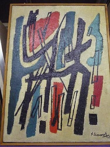 Jean SIGNOVERT (1919-1981) DAHAMA, janvier 1958 Huile sur toile