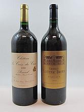 5 magnums 2 mags : CHÂTEAU LA CROIX DU CASSE 1998 Pomerol (étiquettes fanées)