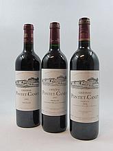 6 bouteilles 2 bts : CHÂTEAU PONTET CANET 2000 5è GC Pauillac (légères traces sur étiquette)
