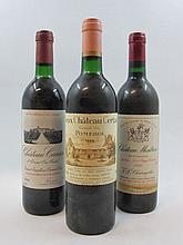 3 bouteilles 1 bt : CHÂTEAU MONTROSE 1986 2è GC Saint Estèphe (étiquette léger tachée en bas)