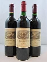 3 bouteilles 1 bt : CHÂTEAU VALANDRAUD 1991 GC Saint Emilion